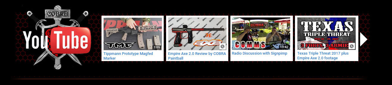 The COBRA Paintball YouTUBE Channel
